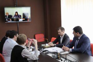 #Вопросы взаимодействия МФЦ Дагестана с Федеральной корпорацией МСП обсудили в ходе видеоконференц- совещания1