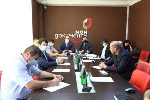 #Совместное совещание с Комитетом по архитектуре и градостроительству РД прошло сегодня в Республиканском МФЦ6