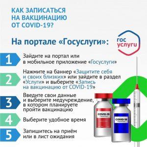 #Как записаться на вакцинацию через портал госуслуг?3