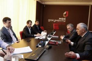 #Порядок и условия оказания услуг по выдаче паспортов обсудили в Республиканском МФЦ на встрече с представителями МВД Дагестана.4