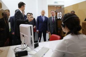 #Владимир Васильев и Александр Браверман посетили Республиканский МФЦ3