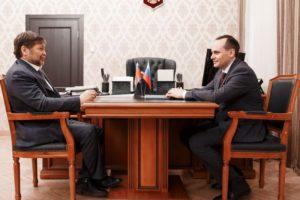 #Премьер — министр Дагестана Артем Здунов встретился Одесом Байсултановым8